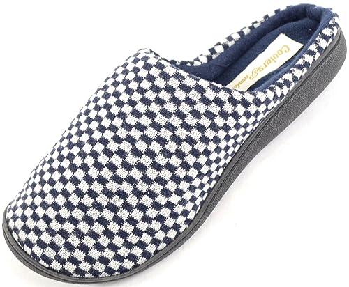 SNUGRUGS - Zapatillas de estar por casa de microvelvetón para hombre , color Azul, talla 44.5: Amazon.es: Zapatos y complementos