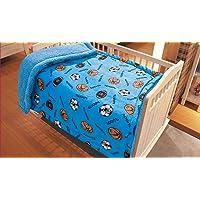 Elegant Home Kids Soft & Warm Sherpa Baby Toddler Boy Blanket Printed Borrego Stroller or Baby Crib or Toddler Bed…