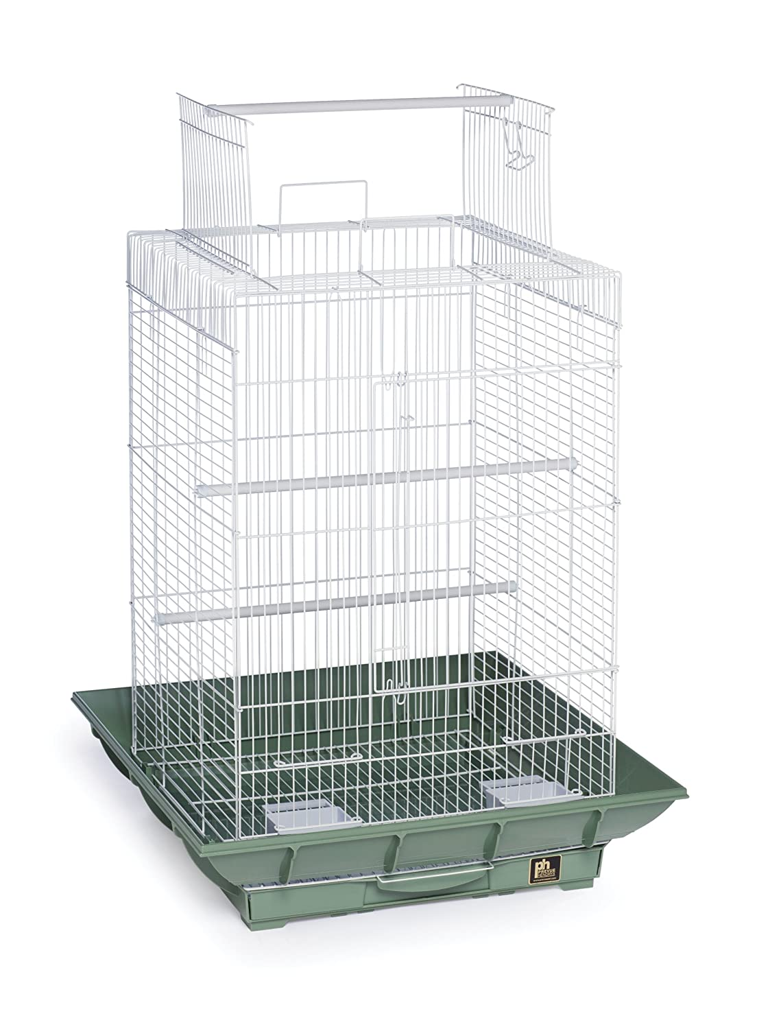 Prevue Pet Products Clean Life Playtop Bird Cage SP851 Green and White Inc. SP851G/W