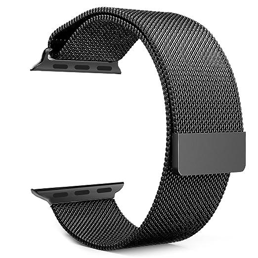 14 opinioni per MoKo Apple Watch 42mm Cinturino, Braccialetto a Maglia Milanese in Acciaio Inox