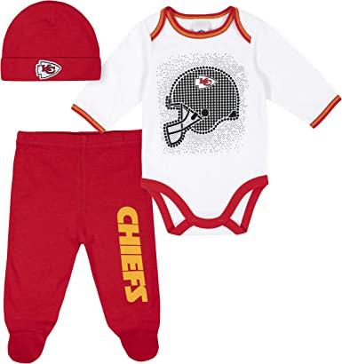 NFL Infants Kansas City Chiefs Footless Footysuit Red