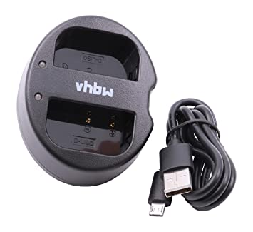 vhbw Cargador y Cable de batería Micro USB para cámaras ...