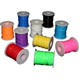 Plastic Lacing Cord 10 Pack,assorted colors.