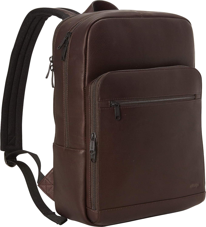 eBags Slim Colombian Leather Laptop Backpack (Brown)