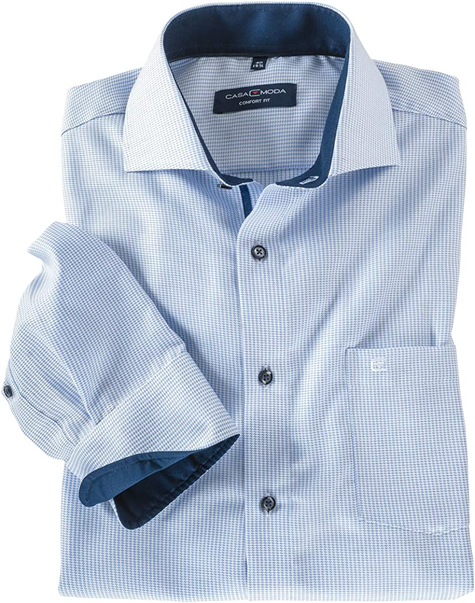 Casamoda Camisa de Manga Larga de Gran tamaño, Azul Claro ...
