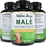 Natural Male Enhancement Supplement – 745 MG Potent and High Quality Tablets – Pure Maca Root, L-Arginine & Tongkat Ali Powder – Guaranteed By Natures Design