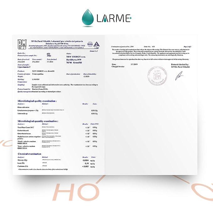 LIPOVITAMIN C® - LIPOSOMAL VITAMINA C Líquida de Alta Dosificación-1450mg por Porción-por 5ml! Altamente Concentrada para Máxima Eficacia. Garantiza ...