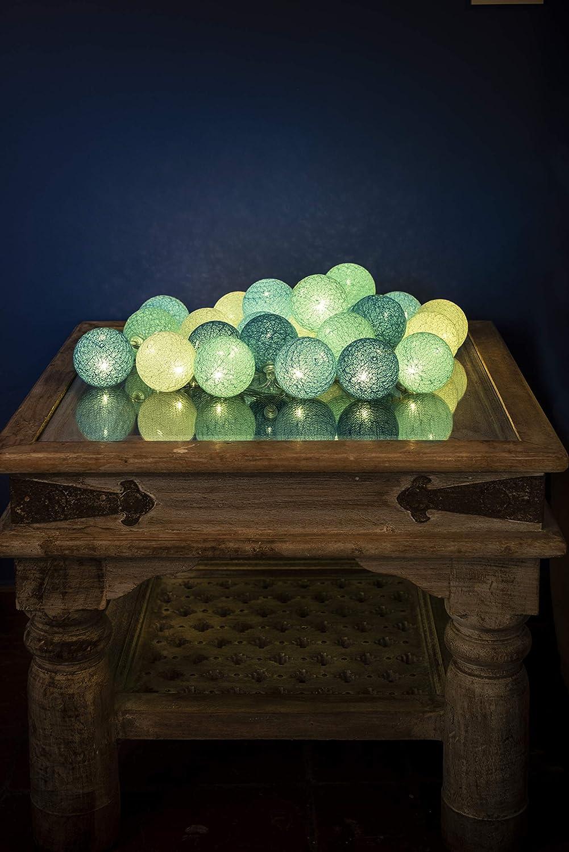 Guirlande lumineuse boules coton LED USB 3 intensit/és Chargeur double USB 2A inclus Tagada 24 boules