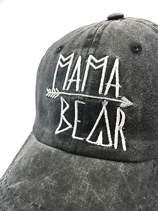 17d4575733c75 Waldeal Embroidered Mama Bear Vintage Distressed Baseball Dad Hats Cap  Grateful Thankful Gift for Mom Grandma at Amazon Women s Clothing store