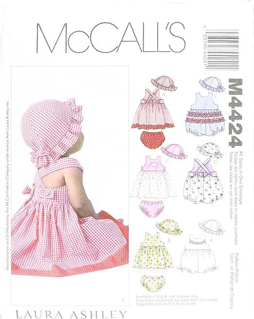 McCall s Kleinkind leicht Schnittmuster 6944/Top Kleider Strampelanzug /& Panty