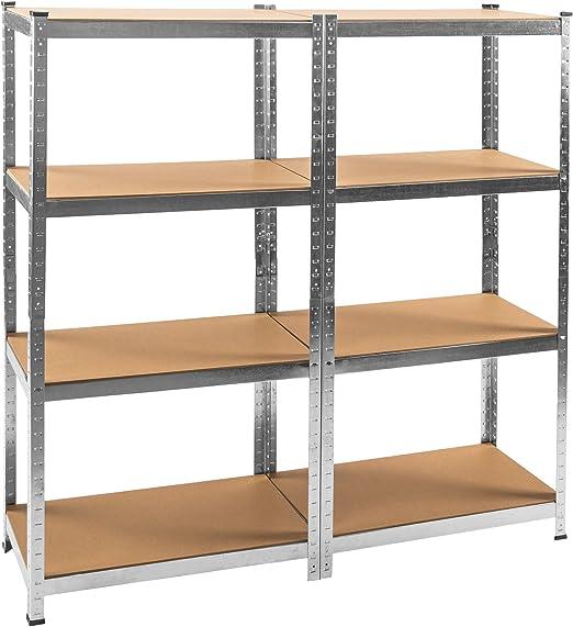 Étagère de coin 875kg lourdes metallique de rangement atelier 180x89,5x89,5cm