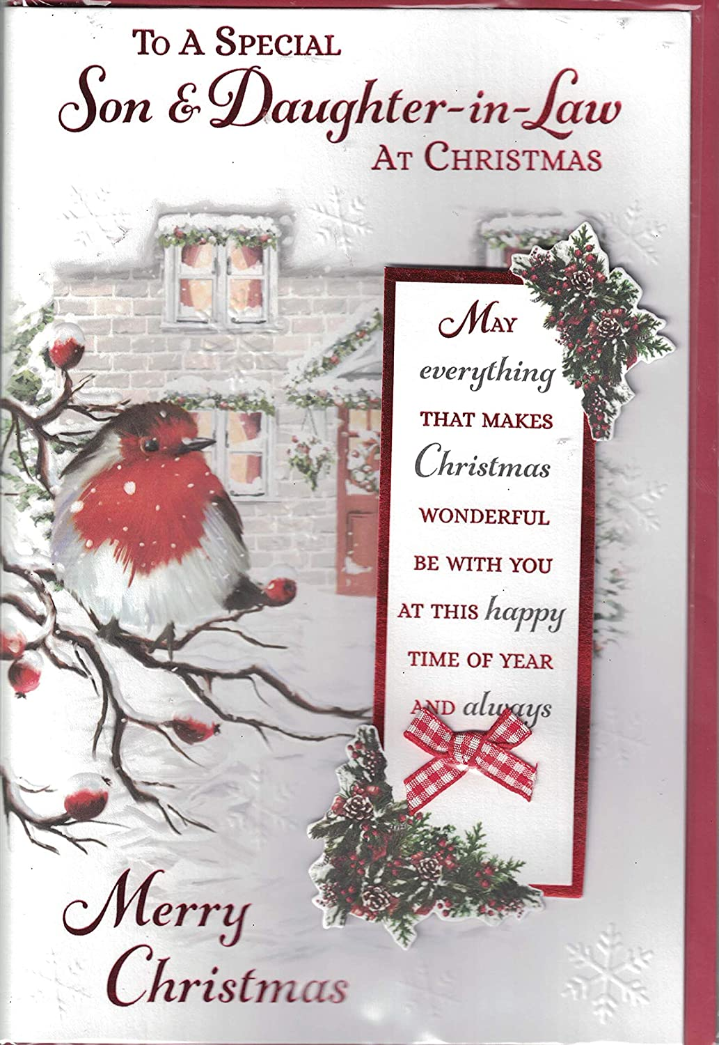 Son And Daughter-in-Law Christmas Card ~ For A Special Son ...