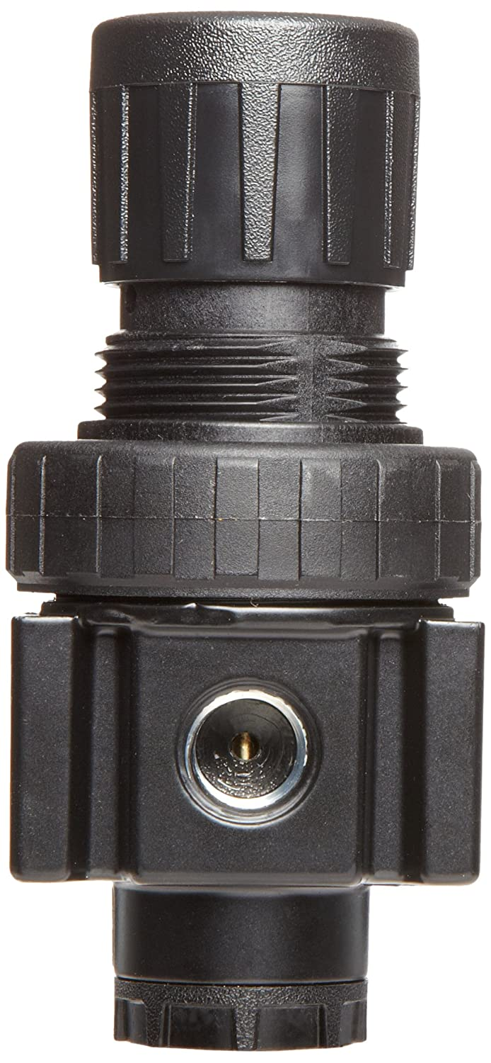 3//8 NPT 3//8 NPT 40 scfm No Gauge 2-125 psi Pressure Range Parker 05R213AD Regulator Relieving Type