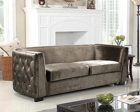 Amazon.com: Iconic Home Haida Sofá tapizado de terciopelo ...