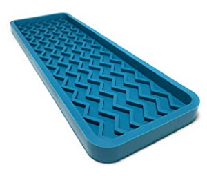 Silicone Kitchen Sink Organizer Tray, 12 inches x 4 inches, 9.2 ounces (TEAL)