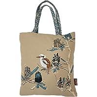 The Linen Press Designer Canvas Shopping Tote Bag – Australian Certified Organic Cotton – Kookaburra & Banksia Design…