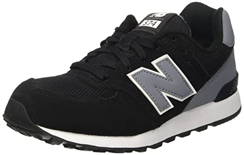 New Balance 574 High Visibility, Zapatillas Infantil, Negro (Black), 32.5 EU