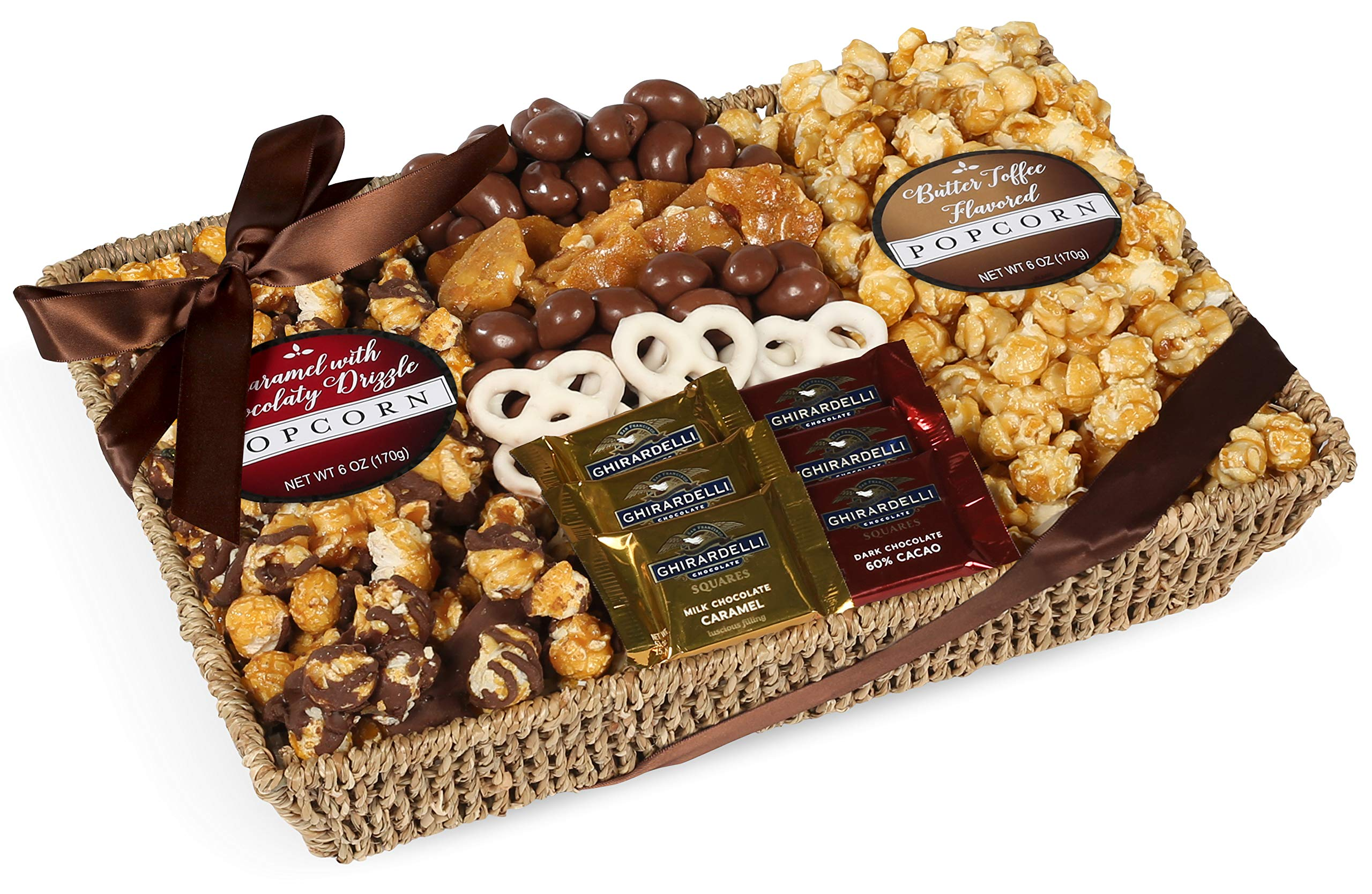 Chocolate, Caramel and Crunch Grand Gift Basket Tray With Protective Packaging, Damage Free Guarantee. by Milliard