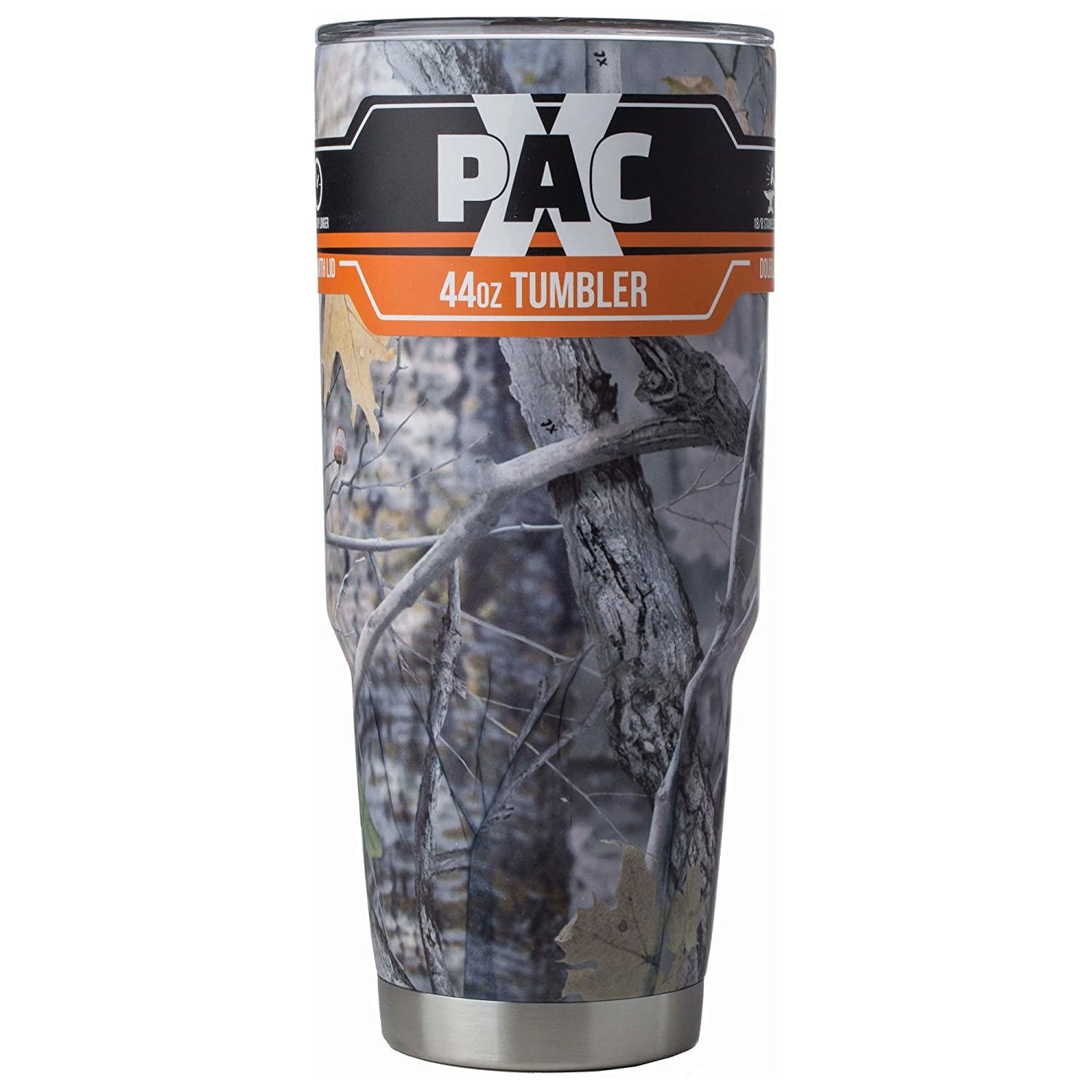 X-PAC Double Vacuum Wall Stainless Steel Tumbler with Lid, Pure Insulated Tumbler Keeps Cold Beverages Cold and Hot Beverages Hot, 44 Ounce, Camo (CAMO)