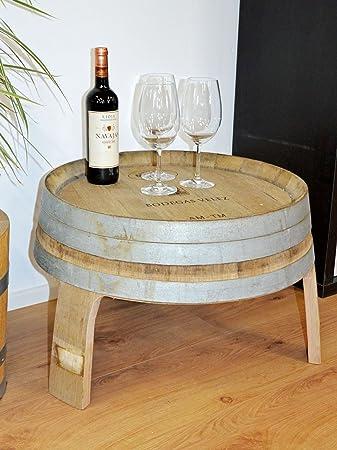 Beistelltisch, Wohnzimmertisch, kleiner Tisch aus halbem Weinfass ...