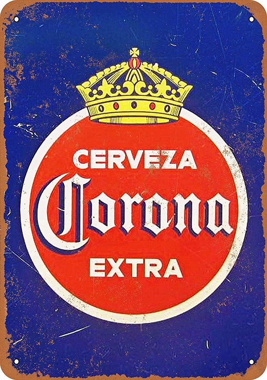 NOT Corona Cerveza Extra Placa de Cartel de Chapa Vintage Retro Cartel de Advertencia de Pared de Hierro Decoración para Bar Cafe Shop Home Garage Office Hotel