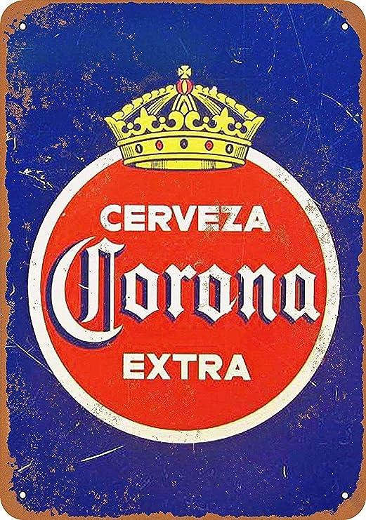Corona Cerveza Extra Póster de Pared Metal Creativo Placa ...