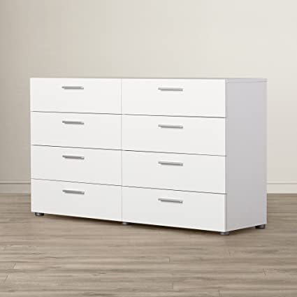 Amazon.com: White Dresser With 8 Drawers - Contemporary ...