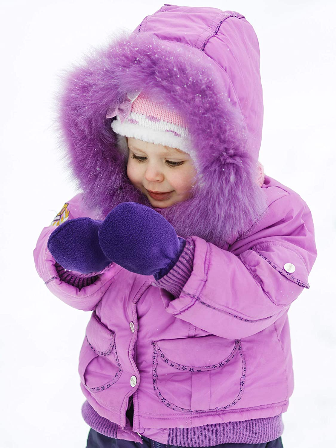 SATINIOR 3 Pairs Baby and Toddler Winter Mittens Kids Fleece Warm Mittens for Baby Boy /& Girl