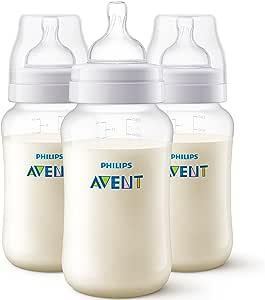 Philips AVENT SCF816/37, Lote de 3 biberon 330 ml Polipropileno (PP) Transparente, 3+ meses: Amazon.es: Bebé