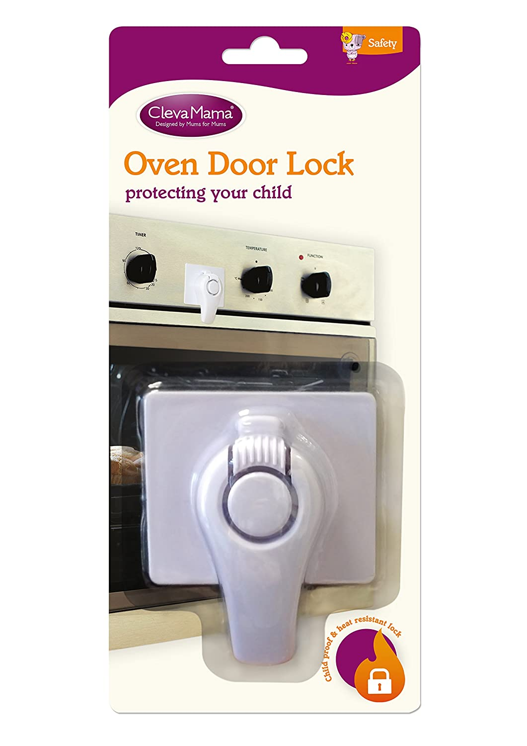 Clevamama Transparent Oven Door Guard with Fixings Child Proofing Home Baby