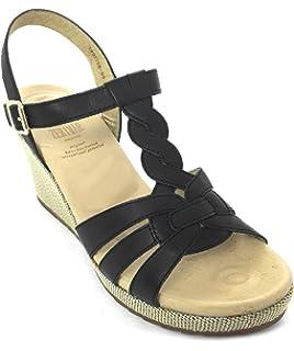 Zerimar Leder Sandalen Damen   Sandalen Damen Sommer   Sandalen Espadrilles  Damen 5238ff9258