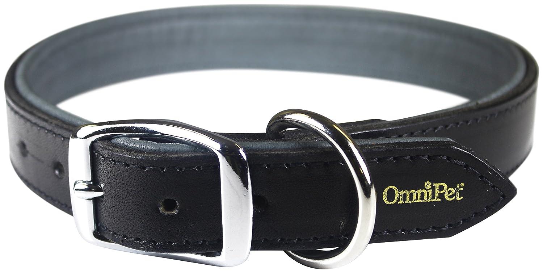 Black 1\ Black 1\ OmniPet 4754-BK27 Deer Tan Leather Dog Collar, 1  x 27 , Black