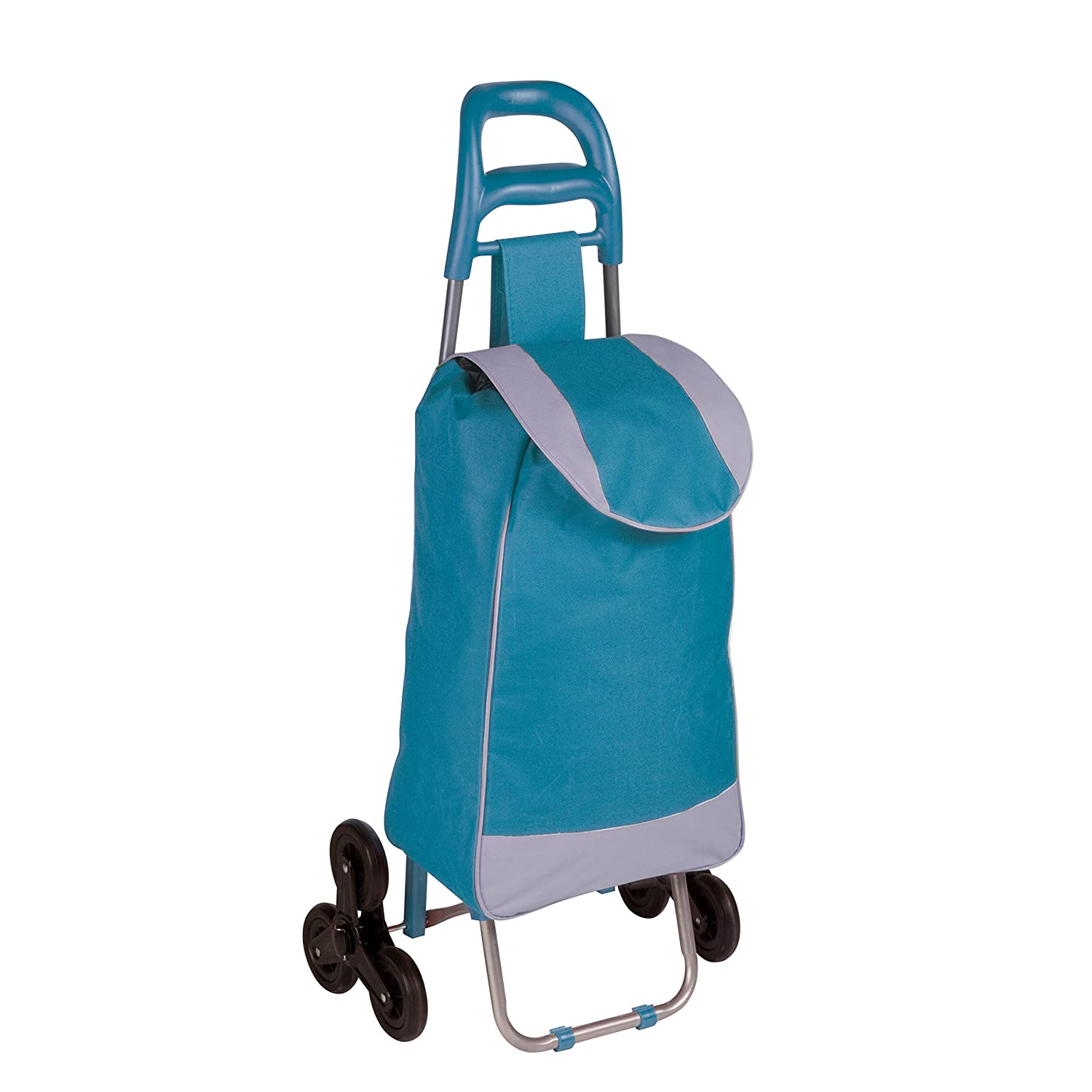 Honey-Can-Do CRT-03931 Large Rolling Knapsack Bag Cart with Wheels, Holds up to 40-Pounds, Blue