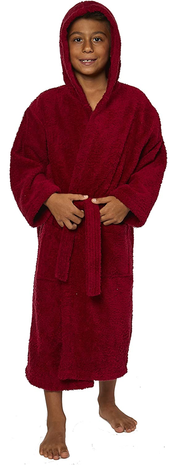 TurkishTowels Parador Hooded Terry Boys Bath Robe Ages 3-6 S//M Navy 100/% Cotton Made In Turkey Made In Turkey