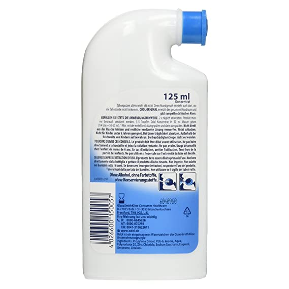 Odol mouthwash Inh, 125 ml 69221: Amazon.co.uk: Health & Personal Care