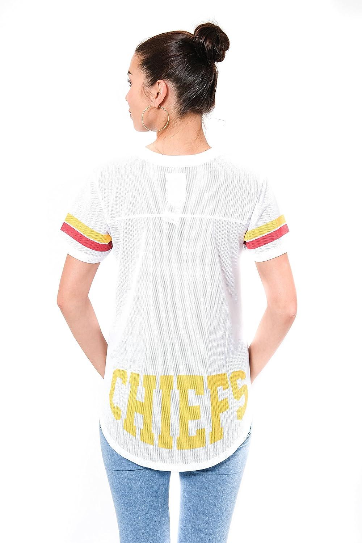 NFL Kansas City Chiefs Ultra Game Womens MESH S//S CREW YORK TEE White Medium