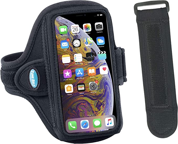 Up to 6.7 in Phone for Sports Galaxy S20+//S10//S9 Cell Phone Armband with Zipper Pocket for Car Key Running Armband for iPhone 11 Pro Max//XR 8 Plus//7 Plus Sweat Resistant Sports Armband Airpods Bag