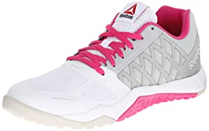 Reebok Women's Ros Workout TR Training Shoe, Steel/White/Charged Pink, 8.5 M US