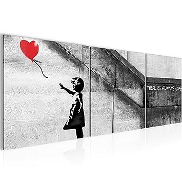 50c7425dc4 Bilder Banksy - Ballon Girl Street Art Wandbild 120 x 40 cm Vlies - Leinwand  Bild