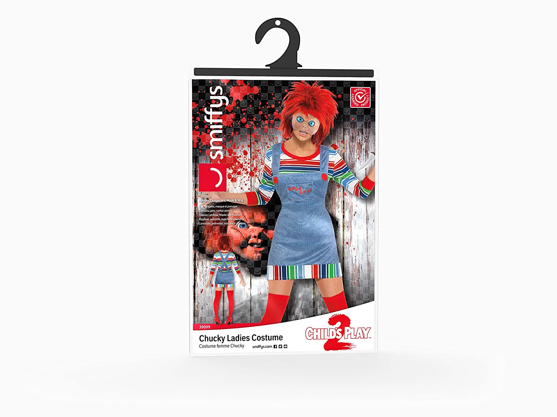 Chucky - Disfraz de chucky para mujer, talla L (39099L): Smiffys: Amazon.es: Juguetes y juegos