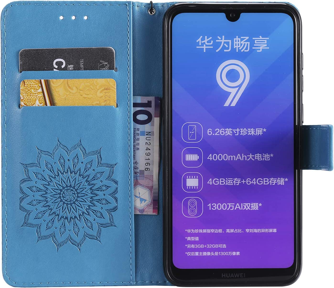 LOTXI150421 L10 Shockproof Flip Case Cover for Huawei Honor20 Lomogo Leather Wallet Case for Huawei Honor 20 with Stand Feature Card Holder Magnetic Closure