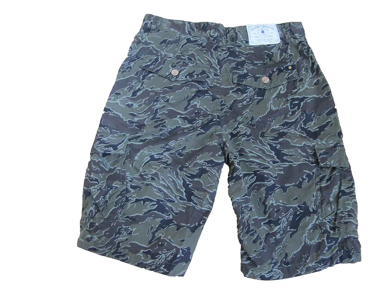 Lucky Brand Cargo Shorts Boys Size 16 Green Camoflouge KXM45628 B//315