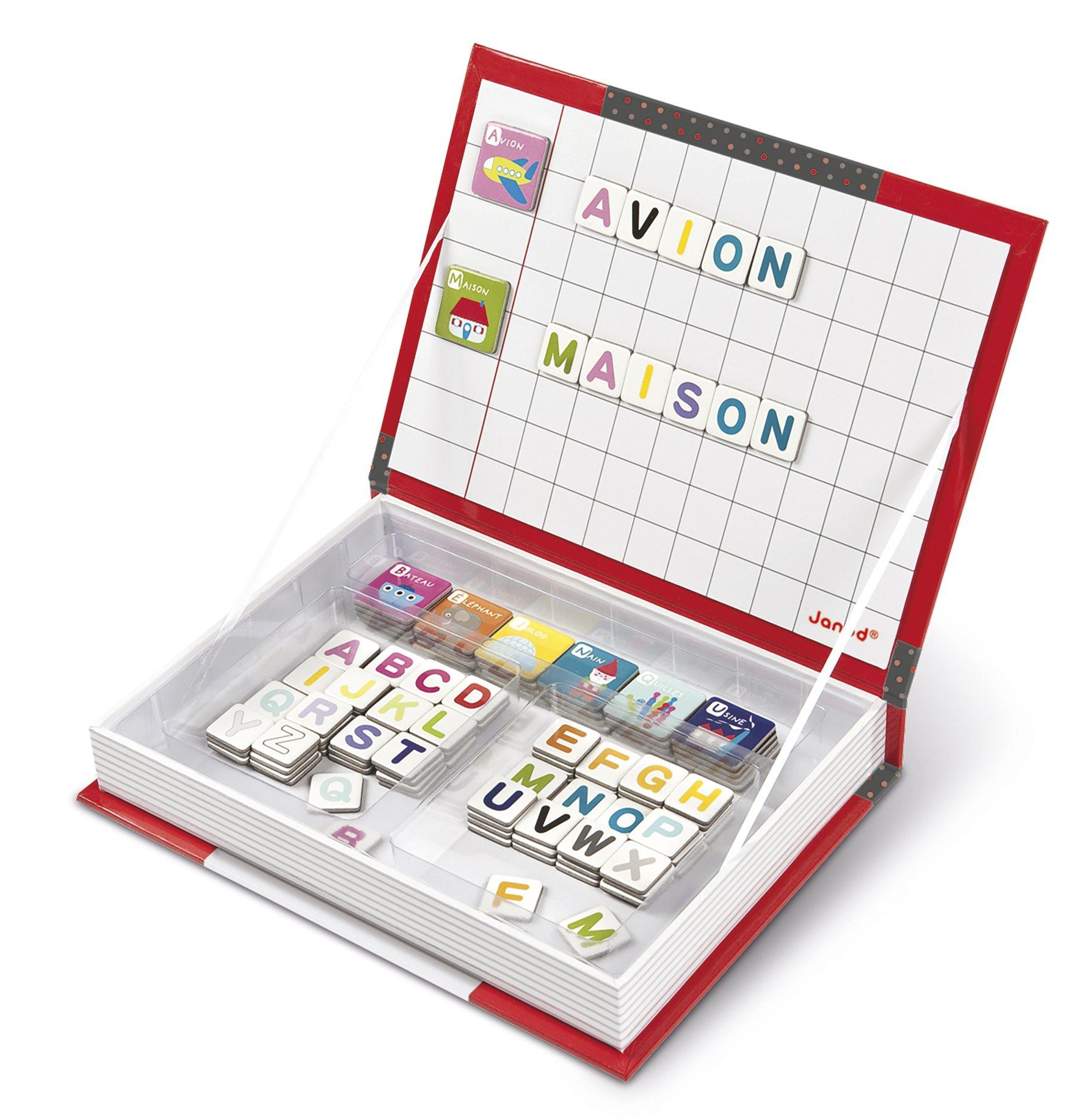 Janod - Magnetibook con alfabeto en francés, libro magnético (J05543) product image