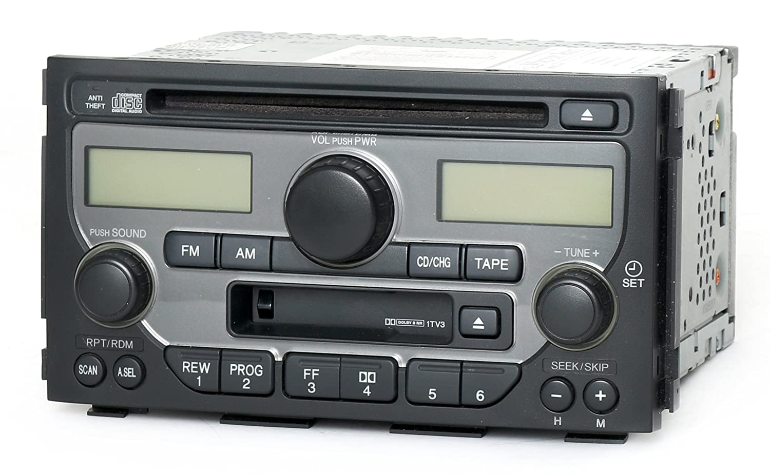 1 Factory Radio AM FM Radio CD Cassette Player Compatible with 2003-2005 Honda Pilot 39100-S9V-A120 – Face 1TV3