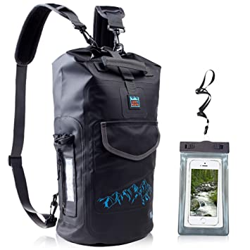 LuckRoute Waterproof Dry Backpack with Straps and Pockets - Floating Dry Bag  for Beach - Sack 644885f89215b