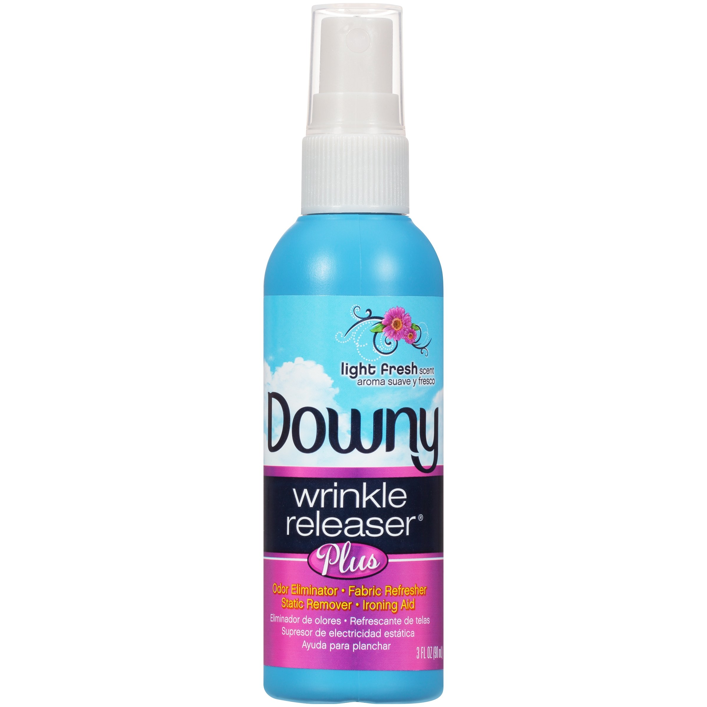 Downy Wrinkle Releaser Plus Light Fresh Scent, Travel Size, 3 Fluid Ounce (Pack of 2) by Downy (Image #5)