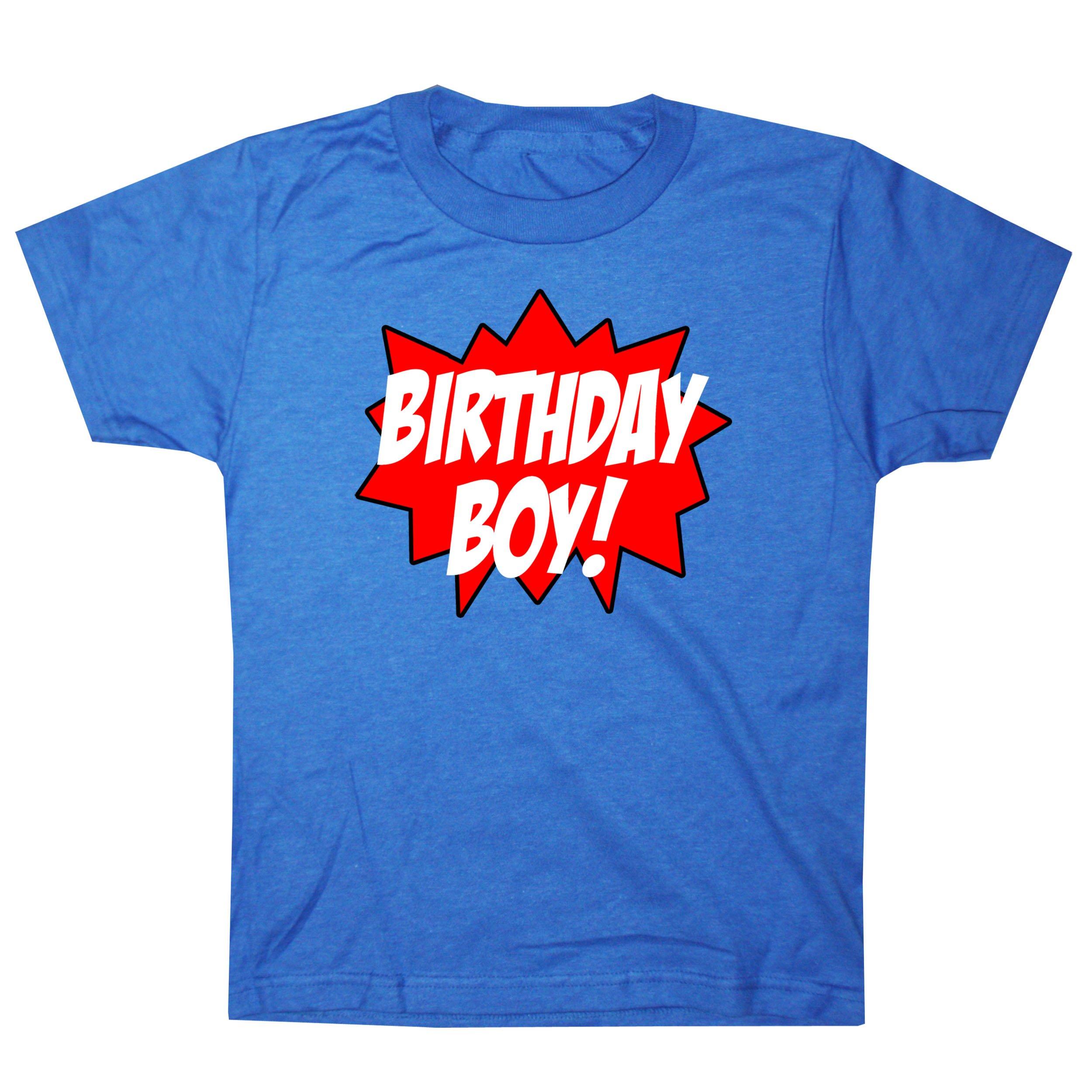 Happy Family Clothing Big Boys Superhero Birthday Boy T Shirt