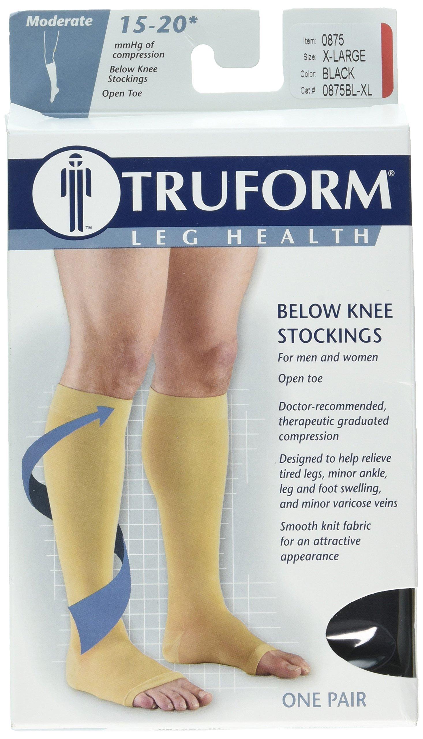 Truform Womens Stockings, Knee High, Sheer, Dot Pattern