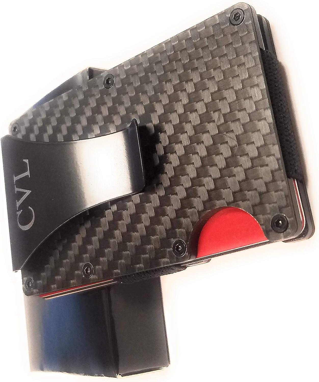 Men RFID Blocking Carbon Fiber Wallet Short Business Slim Pocket Purse Holder