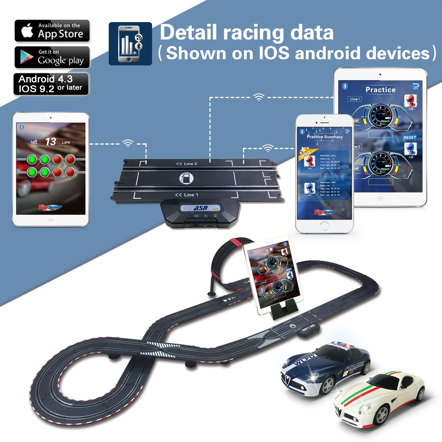 AGM slot car set with racing assistant APP No.ASR-01 1:43 scale by AGM (Image #3)